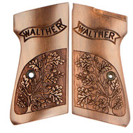 This is a pair of Walther grips for the PPK/S, made from Walnut. Comes with grip screw.