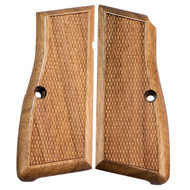 This is a pair of Browning grips for the Hi-Power, made from Wood.