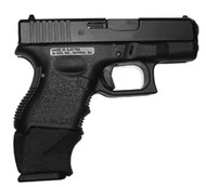 This is the X-Grip for the Glock, slips over a full size magazine (17, 22) to make it fit into a compact model (26, 27) comfortably.