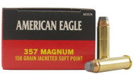 Federal American Eagle .357 Magnum 158 Grain Brass Jacketed SP 50 Rounds Box