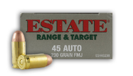 Estate 45 Auto 230 Grain FMJ Range & Target 50 Rounds/Box