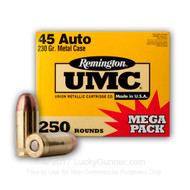 Remington UMC .45 acp 230 Grain MC 250 Rounds / Box Ammo