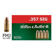 Sellier & Bellot .357 Sig FMJ 140 Gr. Ammo 50 Rounds/ Box