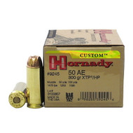 Hornady 50 AE 300 Grain XTP/HP 20 Rounds / Box Ammo