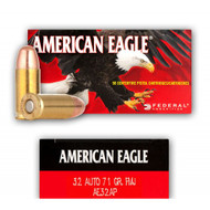 Federal American Eagle 32 Auto 71 Gr. FMJ 50 Rounds/ Box