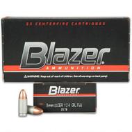 Blazer 9mm 124 Grain FMJ 50 Rounds / Box Ammo