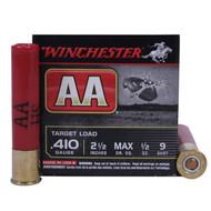"Winchester AA 410 Gauge 2-1/2"" 9 Shot 25 Rounds / Box Ammo"