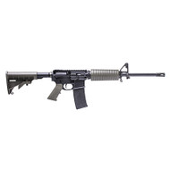 This is a Core AR-15 rifle with an OD Green furniture set, chambered in 5.56 NATO.