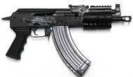 This is an IO (Inter Ordnance) AK-47 pistol chambered in 7.62x39mm.