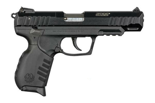 """This is a Ruger SR22 .22 lr, extended barrel. This model has a 4.5"""" barrel compared to the 3.5"""" the original SR-22 has."""