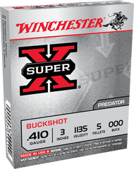 "Winchester Super X .410 3"" 000 Buck 5 round box"