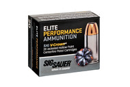 Sig Sauer V-Crown  9mm 147 Grain Brass Jacketed Hollow Point, has 20 rounds per box.