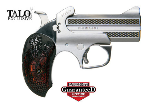 """This is a Bond Arms derringer chambered is .357 mag or .38 special. TALO Limited Edition, only 500 will be made. """"Dragon Slayer"""""""