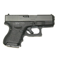 This is a Glock 26 9mm, Gen 3, with a black finish, USED. Comes with (1) 10 Round Magazine.