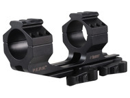 This is a Burris P.E.P.R. 1-piece scope mount for scopes with a 30mm diameter. With Picatinny rails on top of scope rings