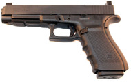 Used Glock 41 MOS. Long slide chambered in 45 ACP. Raised rear and front sights to co-witness red dot