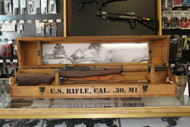 Iwo Jima Commemorative M1 Garand. 1 of 1945 (This rifle is #1476 of 1945). This item is like new only because contents that came with the commemorative set are not included. There is a scratch on the right side of the stock.