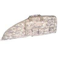 "This Vism rifle case in Digital Camo. It is 36"" long and 13"" tall. It fits most AR-15 style rifles and comes with five pouches to hold extra magazines."