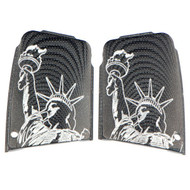 Sig Sauer factory grips featuring Lady Liberty.