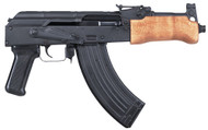 This is a Century Arms MINI DRACO AK-47 Pistol chambered in 7.62 x 39mm.