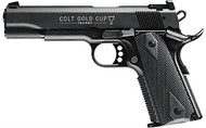 This is a used Colt 1911 Gold Cup Trophy chambered in 22 LR. Manufactured by Carl Walther and imported by Umarex USA