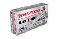 This is a new box of Winchester ammunition in the 45 Auto caliber. It has 230 grain nickel plated FMJ bullets and comes 50 rounds per box.