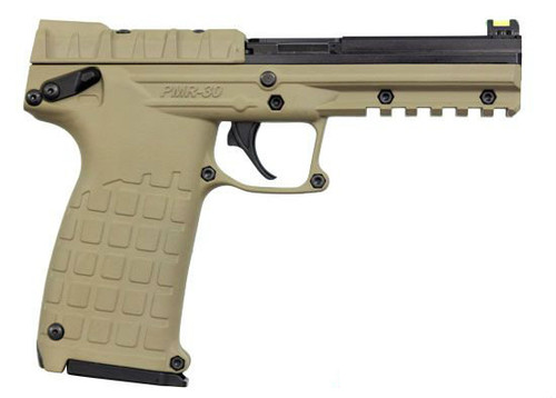 This is a Kel-Tec PMR-30 chambered in .22 magnum, in a Flat Dark Earth finish. This firearm comes equipped with fiber optic sights. Comes with (1) 30 round magazine.