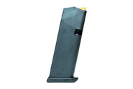 This is a Gen 5 Glock 19 magazine with a maximum capacity of 15 rounds of 9mm. Manufactured by Glock INC.