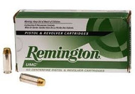 Remington UMC 10MM 180 Grain Brass MC, has 50 rounds per box, manufactured by Remington.