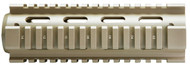 "AR-15  quad rail for the 6.5"" carbine length. This rail in made out of aluminum and is Powder Coated in FDE. You will need a delta ring (not included) for this to be installed."
