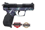 Ruger SR22 .22 lr.  With a Moon Shine Reduced Serenity