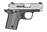 This is a Springfield Armory 911, chambered in .380 auto. Comes with a stainless slide, G10 grips, and night sights.