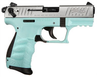 Walther P22 .22lr pistol, with a angel blue finish. Comes with (1) 10 round magazine.