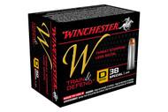 Winchester .38 special 130 Grain Train & Defend JHP, has 20 rounds per box