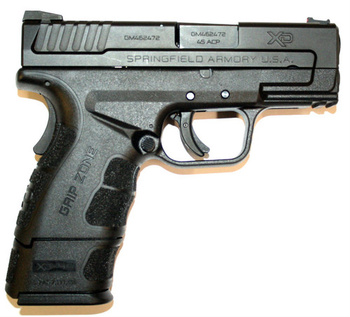 Used XD-45 sub compact chambered in .45 ACP. Manufactured by Springfield Armory USA. Come with two (2) magazines. one (1) 9+1 and one (1) 13+1. Also comes with original box and paper work.