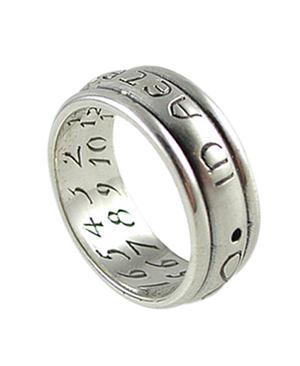 Sterling Silver Sundial Ring - In Aeternam Semper - Together Forever
