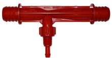 "Mazzei Injector #684K.  This red injector has 3/4"" hose barbs for easy installation"