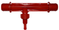 "Mazzei Injector #684K.  This red injector has 3/4"" hose barbs for easy installation on hot tubs and spas"