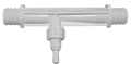"Mazzei® #88K (previously known as #884K).  This white injector has 3/8"" hose barbs for easy installation"