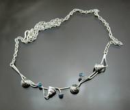 Nine50 Blue Agate Silver Necklace