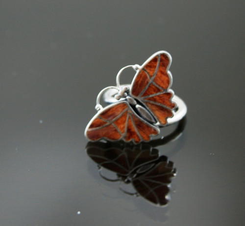Nine50 Silver Butterfly Ring
