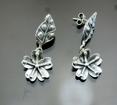 Nine50 Silver Flower Earrings