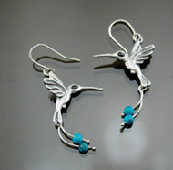 Nine50 Peruvian Silver Hummingbird Earrings