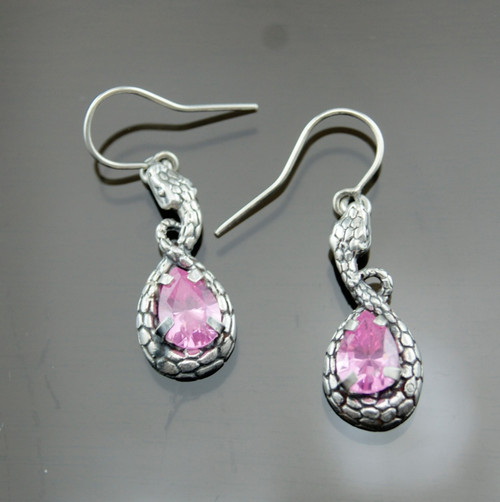 Nine50 Silver and Crystal Serpent Earrings