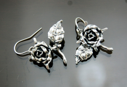 Nine50 Peruvian Silver Rose Earrings
