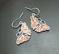 Nine50 Silver Spondylus Butterfly Earrings