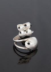 Nine50 Silver Flower Ring