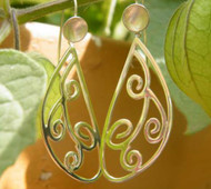 "950 Silver ""Vine"" Earrings"
