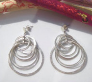 Large Silver Circle Earrings