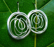 Silver Twine Earrings